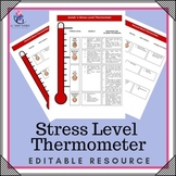 Behaviour Support: Editable Feelings, Emotions, Behavioural Thermometre