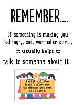 "Behaviour Support: Feeling ""Sad"" Worksheet and Poster"