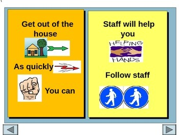 Behaviour Support: Fire Safety Social Story Editable