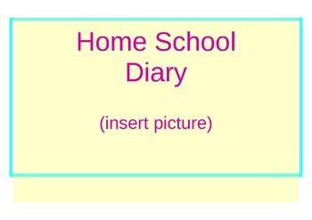 Behaviour Support: Home School Diary to increase Communication