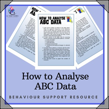 Behaviour Support: How to Analyse ABC data