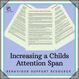 Behaviour Support: Increasing a Child's Attention Span