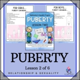 "Behaviour Support: Lesson 2 of 6 - ""Puberty"""