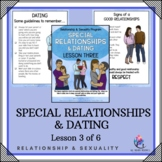 "Behaviour Support: Lesson 3 of 6 - ""Special Relationships and Dating"""