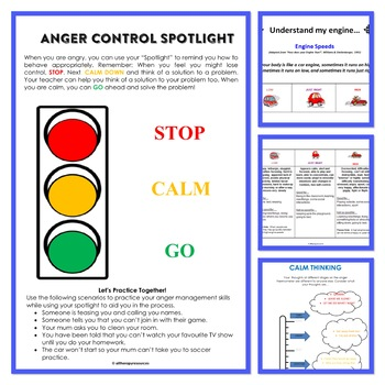 Behaviour Support: My Anger Managment Workbook - Lesson Plans