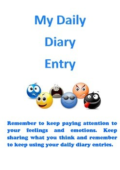 Behaviour Support: My Daily Diary Entry (Emotional Wellbeing)