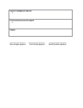 Behaviour Support Plan- Template