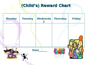 Behaviour Support: Reward Chart (editable)