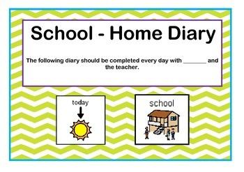 Behaviour Support School Behavioural Diary and Reward Char