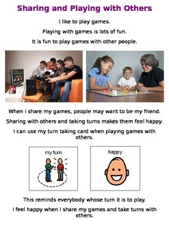 Behaviour Support: Sharing and Playing Social Story