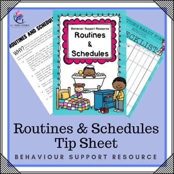 Behaviour Support Strategy: Information on Routines (ABA, Autism)