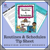 Behavior Support : Routines & Schedules - toddler, preschool, autism, ABA, home