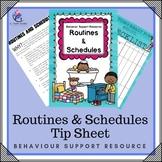 Behavior Support : Routines & Schedules - toddler, preschool, autism, ABA, home