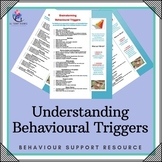 Behaviour Support: Understanding Behavioural Triggers