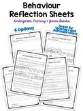 Behaviour Reflection Sheets - Think Sheets for Class Manag