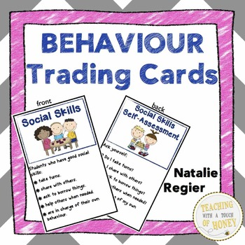 Behaviour Trading Cards: Mini Anchor Charts and Self-Asses