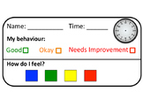 Behaviour and Feelings Name Cards
