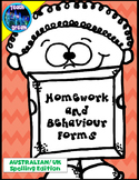 Behaviour Contracts and Homework Forms: Classroom Management- BUNDLE