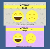 Behaviour cards for students