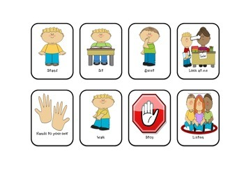 Behaviour cards visual cues