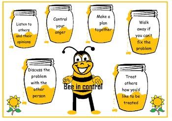 """Behaviour chart """"Bee in control"""""""