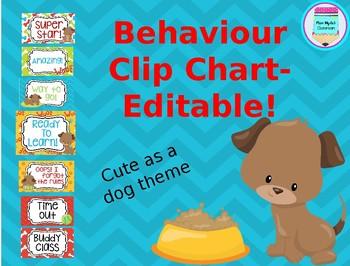 Behaviour clipchart- Dog theme #endoftermdollardeals
