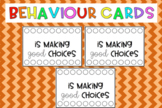 Behaviour hole punch cards {editable}