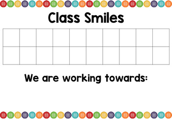 Behaviour management strategy - Class Smiles - buttons theme