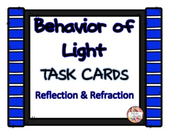 Behaviour of Light - Reflection & Refraction Task Cards