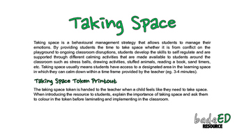 Behavioural Management - Taking Space