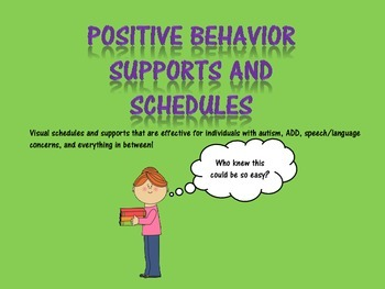 Behavoral Support Visuals and Schedules