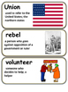 Behind Rebel Lines Vocabulary Cards