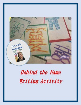 Behind the Name Writing Activity