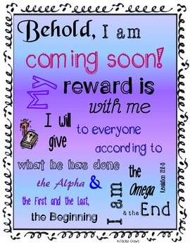 Behold I Am Coming Soon Bible Poster