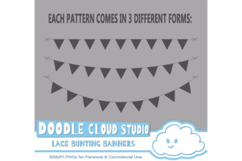 Beige Lace Burlap Bunting Banners Cliparts, multiple lace texture flags.