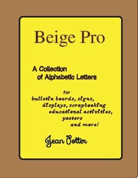 Beige Pro Capital Font