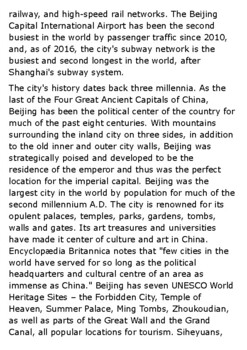 Beijing Handout
