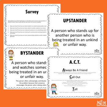 Being An Upstander Lesson (Grades 4-6) (Bullying, Upstander/Bystander, Kindness)