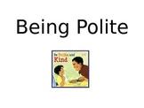 Being Polite in School Social Story