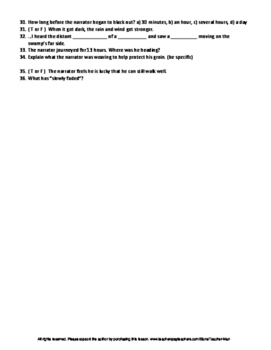 Being Prey by Val Plumwood Complete Guided Reading Worksheet