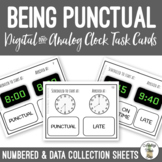 Being Punctual - Vocational Task Cards