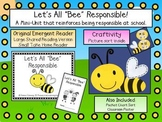 Being Responsible Emergent Reader & Craftivity Pack