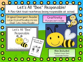 Being Responsible Emergent Reader & Craftivity Pack
