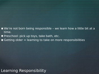 Being Responsible PPT for Teen Living FACS Human Services
