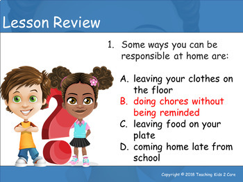 Being Responsible - Interactive PowerPoint / Whiteboard Lesson on Responsibility