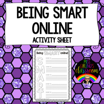 Being SMART online! {Cybersafety Activity Sheet}