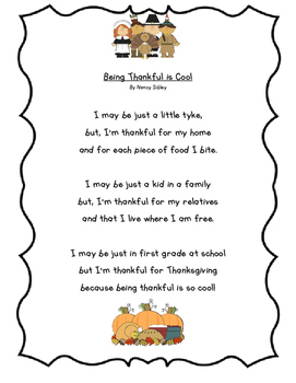 Being Thankful is Cool Poem