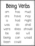 Being Verbs - Helping Verbs-  Linking Verbs Poster