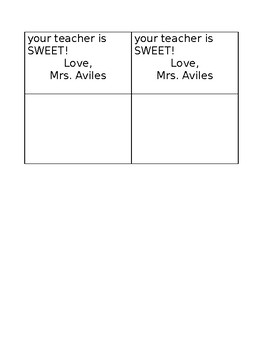 Being Your Teacher is Sweet! Valentine Tags *Editable*