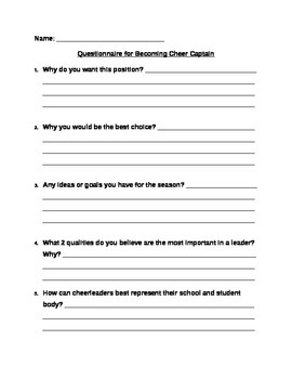 Being a Captain Questionnaire